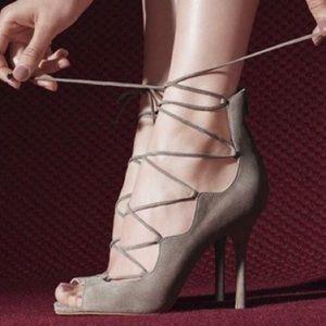 Vince Camuto Sandria Lace-Up Sandal Heels Sz 7 1/2